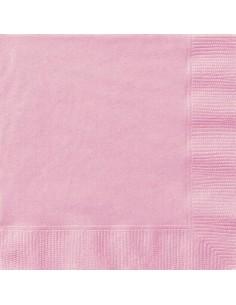 serviette de table rose pastel