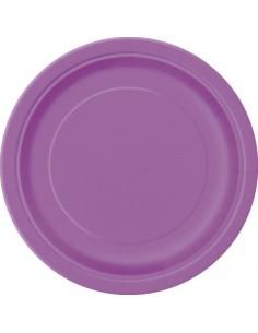 assiette en carton violet