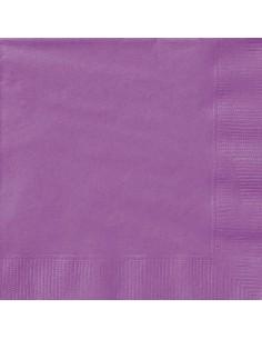 serviette en papier violet