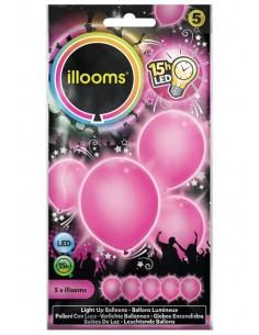 ballons lumineux rose
