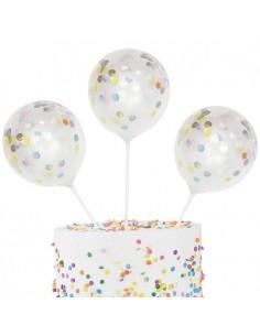 cake topper ballon confettis