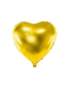 ballon coeur doré