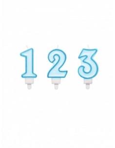 bougie anniversaire chiffre bleu