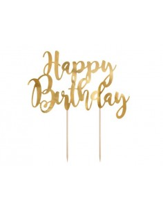 cake topper happy birthday doré