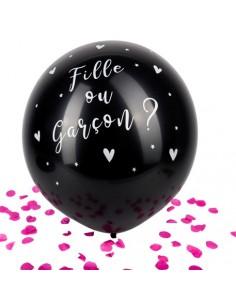 ballon revelation confettis rose fille