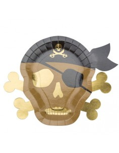 assiette en carton pirate