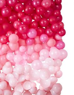 mur de ballon rose