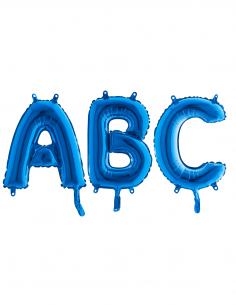 ballon lettre bleu