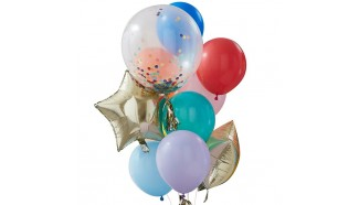 Melange de ballons arc-en-ciel