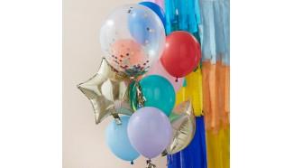 Melange de ballons colores