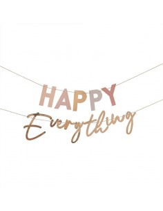 banderole happy everything pastel et or