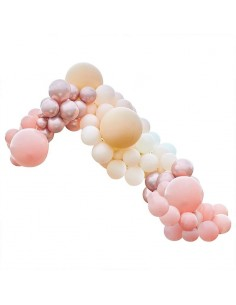 kit arche de ballons luxe peche