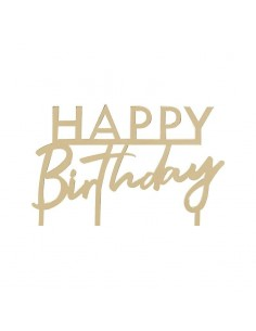 Cake topper happy birthday dore