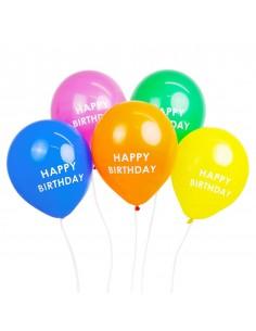ballon anniversaire multicolores