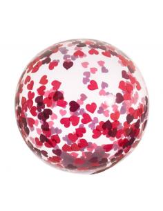 ballon confettis coeur