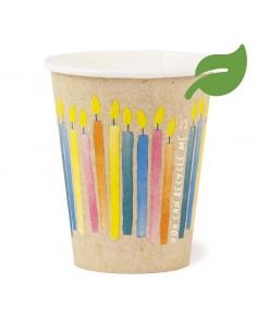 gobelet en carton anniversaire biodegradable