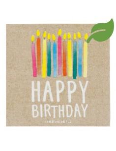 serviette papier happy birthday biodegradable