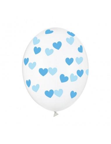 ballon coeur bleu baudruche
