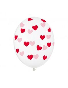 ballon transparent coeur rouge