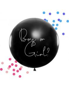 ballon confettis revelation fille garcon