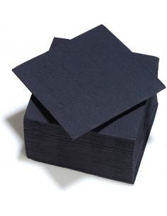 serviettes en papier noires