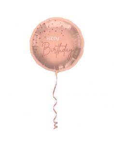 ballon rose Happy birthday