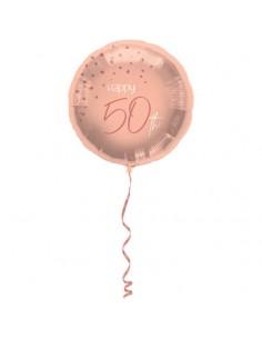 ballon 50 an rose