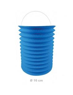 lampion papier bleu