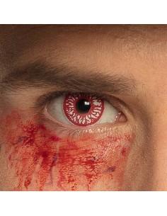 yeux lentilles sang