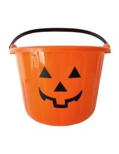 seau bonbon-citrouille orange halloween