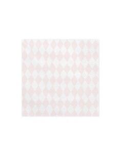 serviette papier carreaux rose