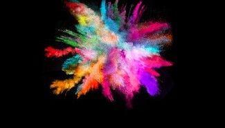 Poudres colorées