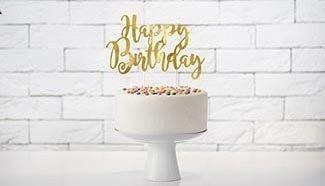 Cake topper anniversaire