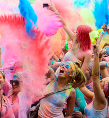 evenement color party festival