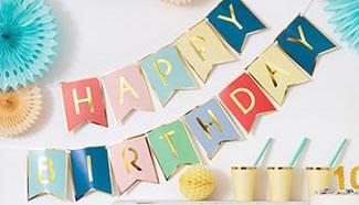 Banderoles anniversaire