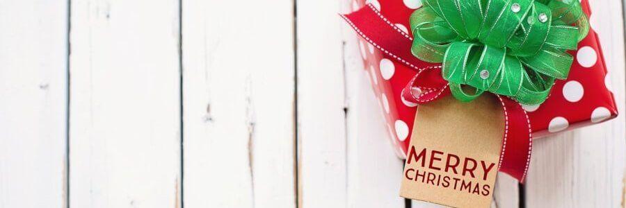 Décoration cadeau de noel avec inscription joyeux noël