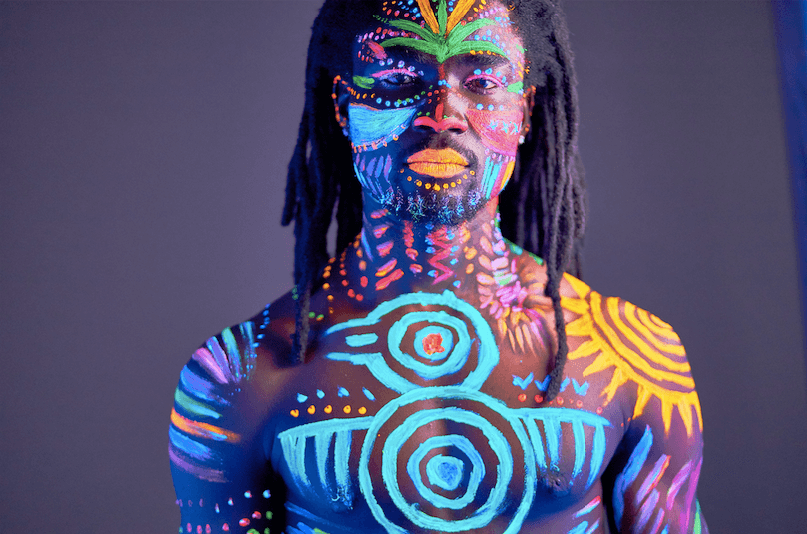 body painting homme