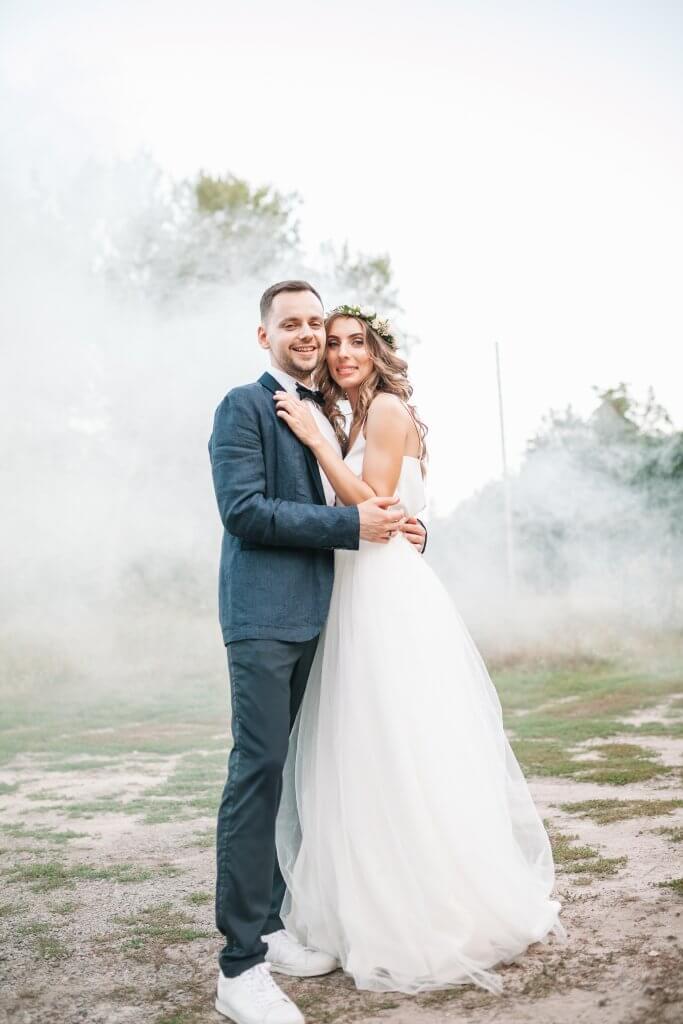 fumigene mariage blanc